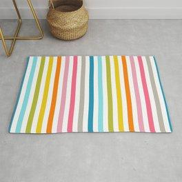 rainbow stripe Rug
