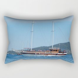 Yachting marina of Marmaris in Turkey resort town on the Aegean Sea Rectangular Pillow
