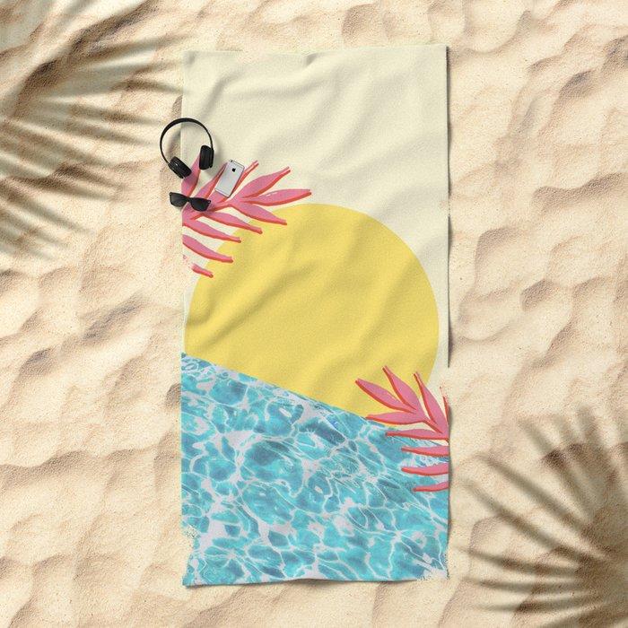 Tropical landscape Beach Towel