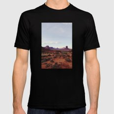 Monument Valley View X-LARGE Black Mens Fitted Tee