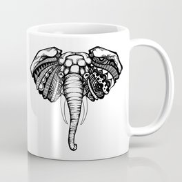 Psychedelic Elephant | Animal Pointillism Coffee Mug