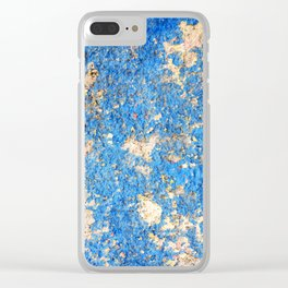 Textures in Blue Clear iPhone Case