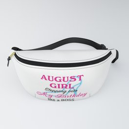August Girl Birthday Fanny Pack