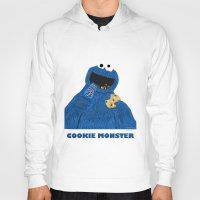 cookie monster Hoodies featuring Cookie Monster by Dano77