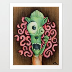 Monster 1: Floyd. Art Print