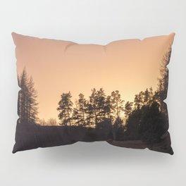 sunset silhouette trees Pillow Sham