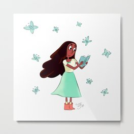 Connie and Buterflies Metal Print