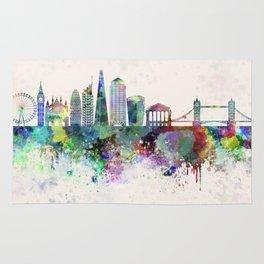 London V2 skyline in watercolor background Rug