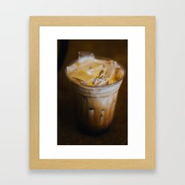 Layered Latte - Olympia, WA Framed Art Print