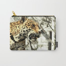 tree branch african safari animal leopard Carry-All Pouch