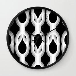 Retro-Delight - Double Drops - White Wall Clock