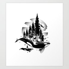 GREETINGS FROM THE PACIFIC NORTHWEST Art Print