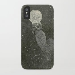 Antique Moon Woman iPhone Case