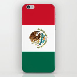 The Mexican national flag - Authentic high quality file iPhone Skin