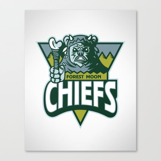 Forest Moon Chiefs Canvas Print
