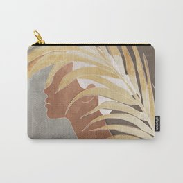 Woman with Golden Palm Leaf Carry-All Pouch