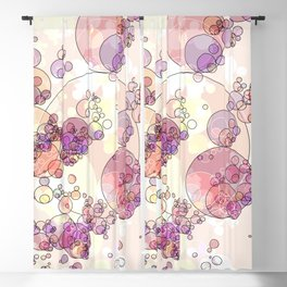 Boiling coffee with milk: abstract digital art fashionable modern colors Blackout Curtain