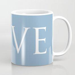 Love word on placid blue background Coffee Mug
