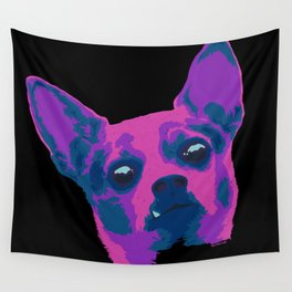 chihuahua - blk Wall Tapestry