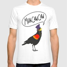 MuaCawCaw Mens Fitted Tee White SMALL