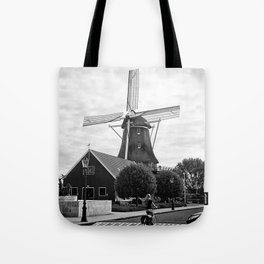 Amsterdam Windmill Girl Tote Bag