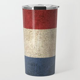 Old and Worn Distressed Vintage Flag of The Netherlands Travel Mug