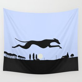 Whippet Dawn Wall Tapestry