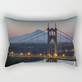 Mornings at St. Johns Bridge Rectangular Pillow