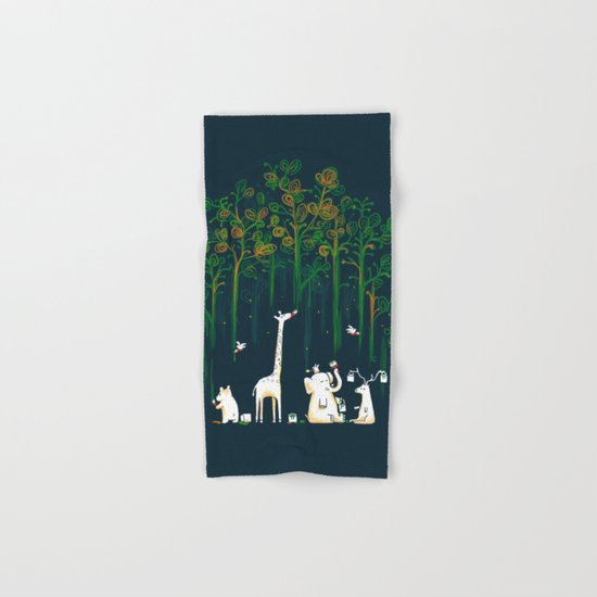 Re-paint the Forest Hand & Bath Towel