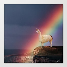 Llamacorn Canvas Print