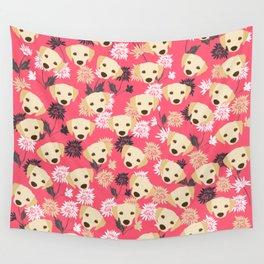 Cute Yellow Labrador Dog Wall Tapestry