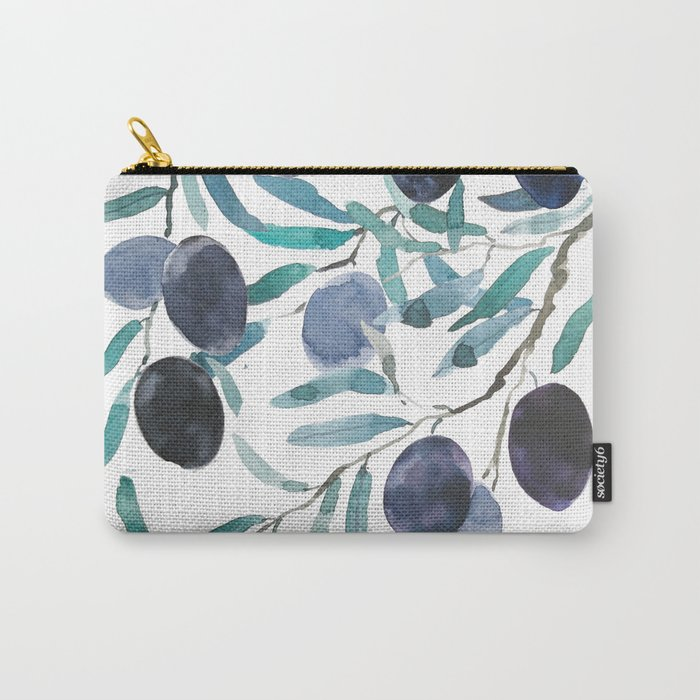 black olive watercolor 2018 Carry-All Pouch