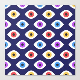 Lucky Eyes Vintage Pattern Canvas Print