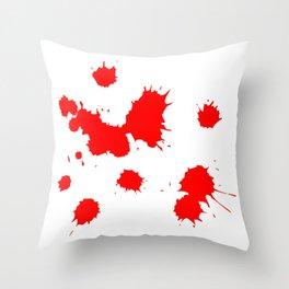Blood splash Throw Pillow