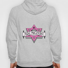 Mitzvah with Pink scroll &  Star of David Hoody