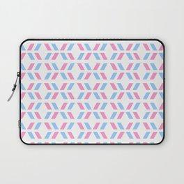 Oblique polka dot blue and pink Laptop Sleeve