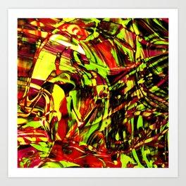 Fluid Painting 2 (Yellow Version) Art Print