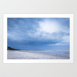 The Sky above the Channel Art Print
