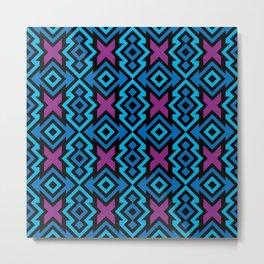 Precolumbian Geometry Metal Print