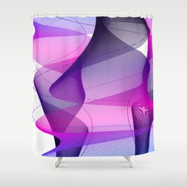 Dynamic Dance Shower Curtain