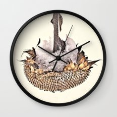 Sunflower in Winter Wall Clock