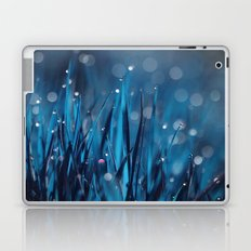 Blue Grass and Morning Dew Drops Laptop & iPad Skin