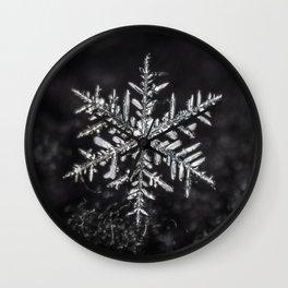 January Snowfake #5 Wall Clock