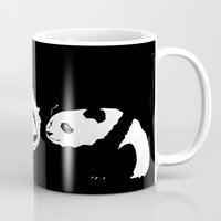 pandas Mugs featuring Pandas by Elena Medero