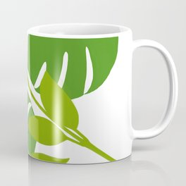 Simply Tropical Leaves with White background Coffee Mug