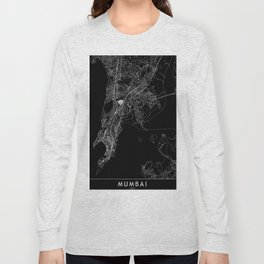 Mumbai Black Map Long Sleeve T-shirt