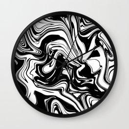 Liquid Marble B&W 028 Wall Clock