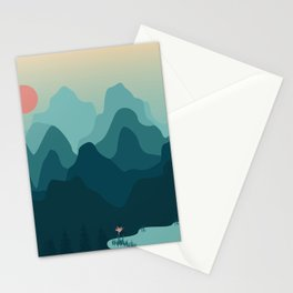 Forest and Mountian Stationery Cards