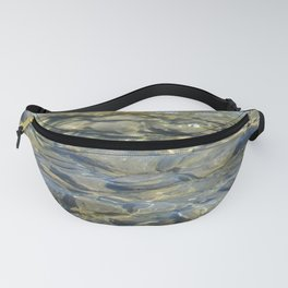 River Rocks - Serene Cool Flowing Water over Beach Stones Fanny Pack