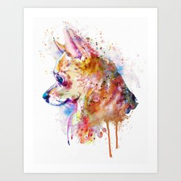 Watercolor Chihuahua Art Print